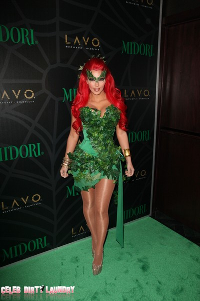 Kim Kardashian Is Poison Ivy At 'Midori Green' Halloween Party (Photo)