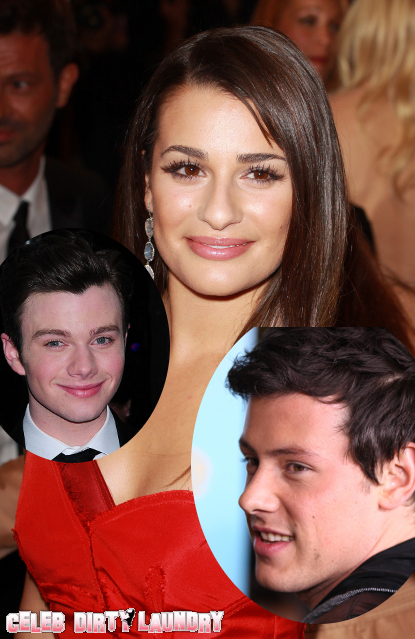 It has recently been confirmed that Glee actors Lea Michele, Christ Colfer, and Cory Monteith will be leaving the show after next season.