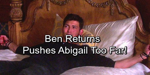 Days of Our Lives Spoilers: Ben Plays Mind Games, Makes Abby Think She's Going Crazy Again?