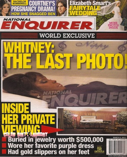 Final Photo Of Whitney Houston In Her Open Coffin (Uncensored Photo)
