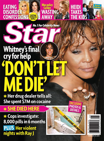 Report: Whitney Houston Spent $7 Million On Cocaine And Took 8000 Pills In 6 Months! (Photo)