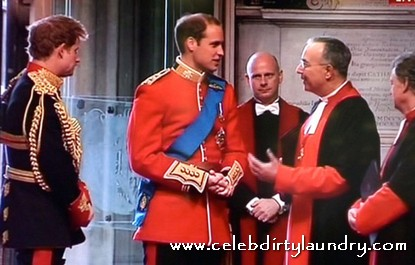 Prince William and Prince Harry Arrive At Westminister Abbey - Photo