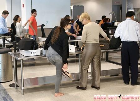 Exclusive... Kim Kardashian Catches A Flight Out Of Miami