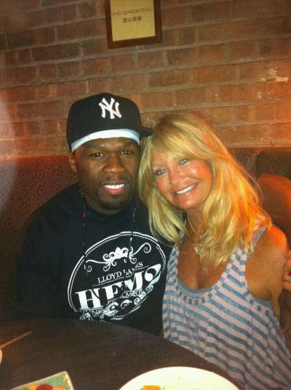 50 Cent Has Lunch with . . . Goldie Hawn?