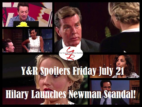 The Young and the Restless Spoilers: Friday, July 21 - Jack's Ultimatum – Hilary Launches New Scandal – Lily's Tough Question