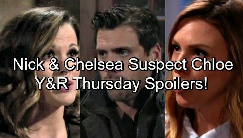The Young and the Restless Spoilers: Nick's Suspicions Grow – Chloe's Outburst Puzzles Chelsea – Kevin Plans Marriage Proposal