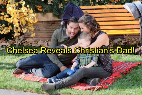 The Young and the Restless Spoilers: Chelsea Says Adam Newman Is Christian's Papa - Holds Second Sully Reveal Card