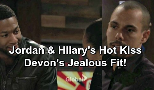 The Young and the Restless Spoilers: Hilary Stunned by Jordan's Hot Kiss - Jealousy Erupts for Devon
