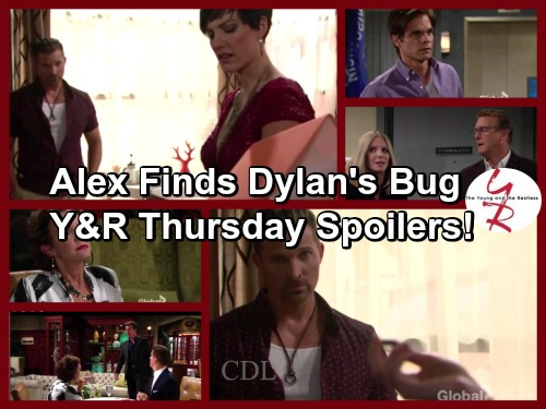 The Young and the Restless Spoilers: Alex Finds Dylan's Bug - Fears Grow in Genoa City - Jack Makes Trouble
