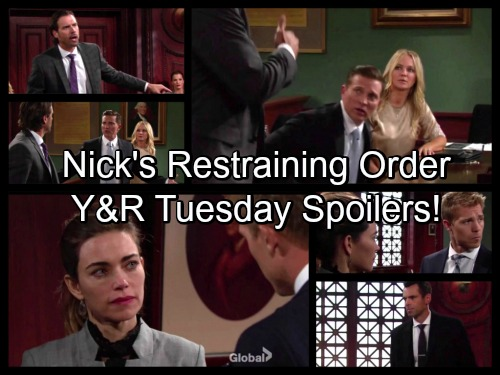The Young and the Restless Spoilers: Nick Demands Restraining Order Against Sharon and Dylan – Victoria Learns Travis Cheated