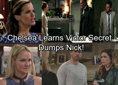 The Young and the Restless Spoilers: Nick Shares Victor Secret with Sharon – Chelsea Outraged by Deception, Dumps Nick