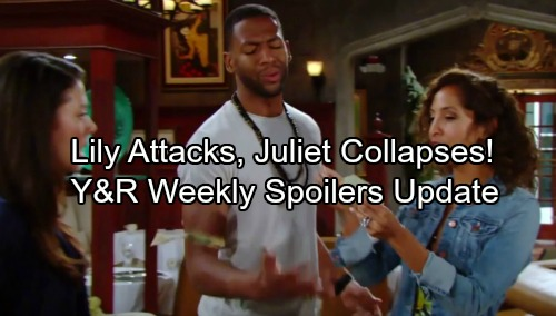 The Young and the Restless Spoilers: Week of June 26 Updates - Cane's World Crumbles – Lily Unleashes Her Wrath, Pregnant Juliet Collapses