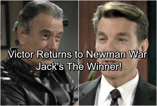 The Young and the Restless Spoilers: Victor Returns, Newman Family War Breaks Out - Jack Comes Out The Winner