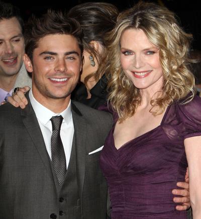 Zac Efron: Kissing Michelle Pfeiffer Wasn't Pleasant