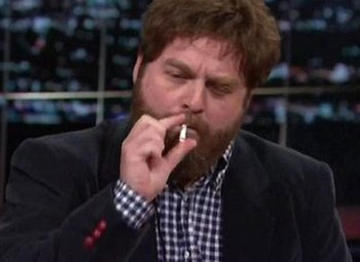 Zach Galifianakis Did Not Smoke Pot On TV