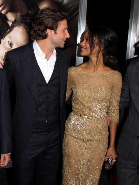 Zoe Saldana Reveals Lesbian Leanings, Was She Bradley Cooper's Beard?  0515