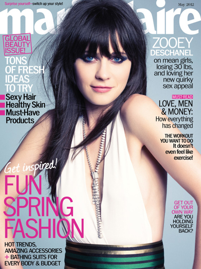 Zooey Deschanel Looks Sexy On The Cover Of Marie Claire