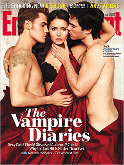 The 'Vampire Diaries' Stars Have A Menage-A-Trois On The Cover Of Entertainment Weekly