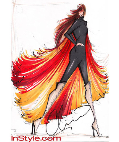 11 Top Fashion Designer's Sketch Katniss's 'Fire Dress' From 'The Hunger Games'