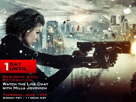 Action Packed 'Resident Evil: Retribution' Live Stream Event with Milla Jovovich (Video)