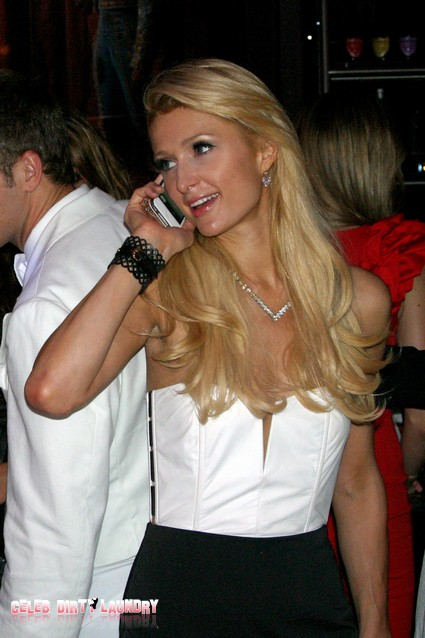 Paris Hilton Hangs Out at Mr Chow's Culo Party