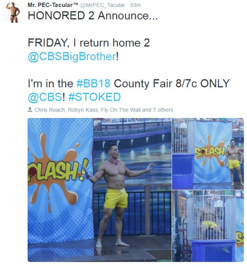 Big Brother 18 Spoilers: Friday Mystery Episode - BB18 Details Revealed – Mr PEC-Tacular, Ziggy Marley and HoH Advantage