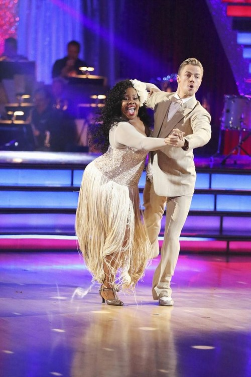 Amber Riley Dancing With the Stars Viennese Waltz Video 11/18/13