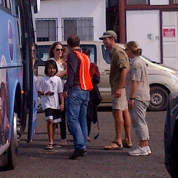 Angelina Jolie Is Just Like Us, She Takes The Bus