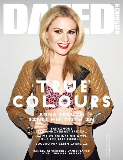 True Blood's Anna Paquin Covers Dazed & Confused's January 2011 Issue