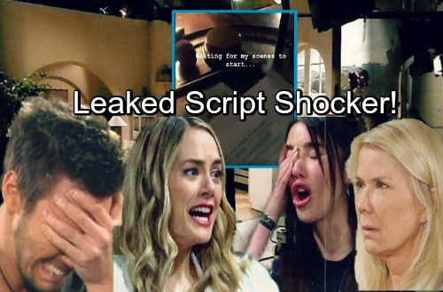 The Bold and the Beautiful Spoilers: Leaked Script Reveals Liam's Shocking Outburst At Steffy and Hope's Distress