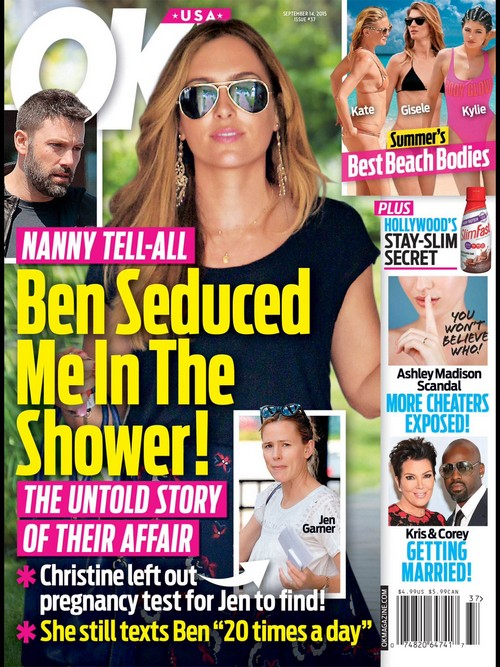 Ben Affleck, Christine Ouzounian Shower Seduction Tell-All: Jennifer Garner Found Nanny's Pregnancy Test?