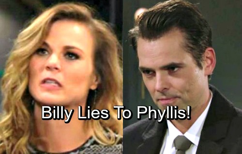 The Young and the Restless Spoilers: Billy Lies To Phyllis To Help Summer Out Of A Jam