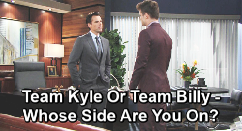 The Young and the Restless Spoilers: Cutthroat Jabot War Explodes, Winner Takes All – Team Kyle or Team Billy?
