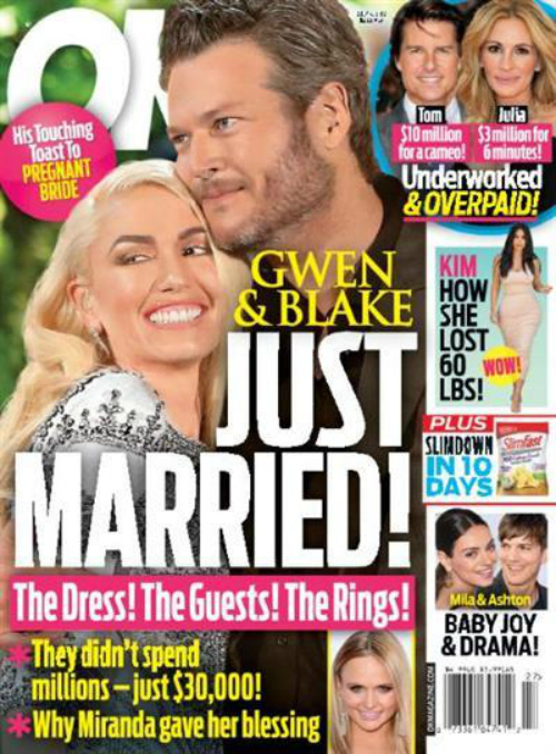 Gwen Stefani and Blake Shelton Married - Details Revealed of Low-Cost Back Country Oklahoma Ceremony?
