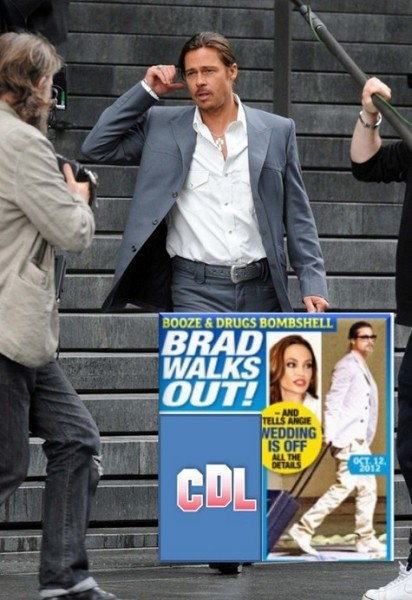 Booze And Drugs Bombshell: Brad Pitt Walks Out On Angelina Jolie - Wedding Off 1017