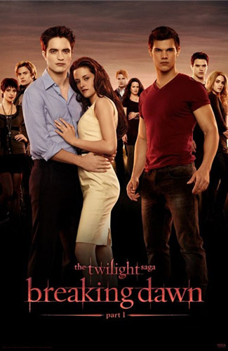 A Semi-New BREAKING DAWN Movie Poster -- Vamps And Wolves In All Their Glory!