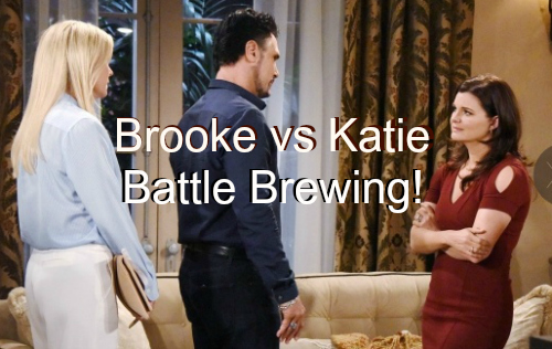 The Bold and The Beautiful (B&B) Spoilers: Brooke Doubts Bill's Paternity Revelation, Accuses Katie of Lying - Battle Ensues