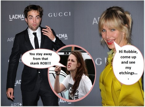 Cameron Diaz Wants Robert Pattinson - Watch Out Kristen Stewart!