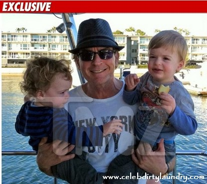 Charlie Sheen Spends Weekend With Twin Sons Bob and Max