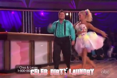 Chaz Bono's Dancing With The Stars Samba (Video) 10/17/11