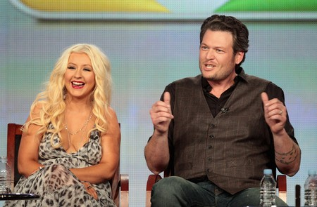 Flirting Between Christina Aguilera And Blake Shelton On The Voice Riles Miranda Lambert