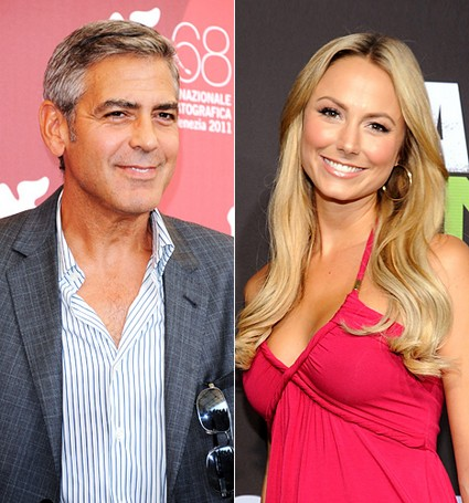George Clooney Brings Rumored Girlfriend Stacy Keibler To TIFF