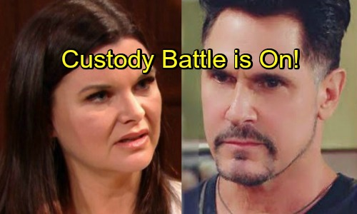 The Bold and the Beautiful Spoilers: Thorne Pushes Katie To Seek Full Custody of Will - Bill Fights Back, Nasty Custody War Is On