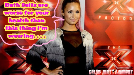 Furious Demi Lovato Bashes Bath Salt Druggies on 'X-Factor'