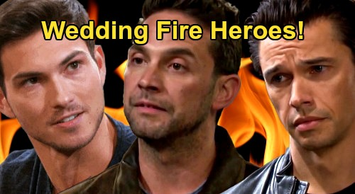 Days of Our Lives Spoilers: 'Cin' Wedding Goes Up In Flames - Jake, Xander & Ben Fire Heroes Rescue Gabi, Sarah & Ciara
