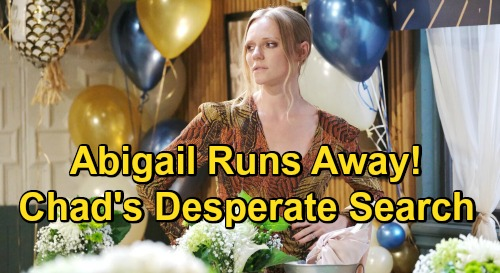 Days of Our Lives Spoilers: Abigail Runs Away After Blowing Up Jack & Jenn's Marriage – Chad's Desperate Search for Missing Wife