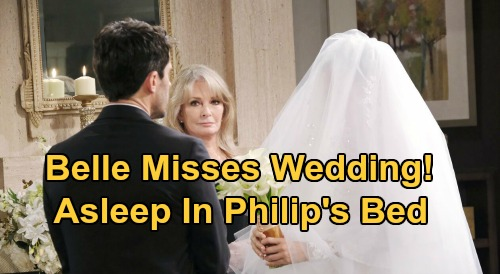 Days of Our Lives Spoilers: Belle Misses Wedding To Shawn, Unconscious In Philip's Bed - Jan's Shocking Scheme