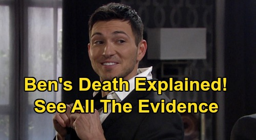 Days of Our Lives Spoilers: Ben's Death Explained, See All the Evidence – Why Ciara's Groom Faces Grim Fate After 'Cin' Wedding