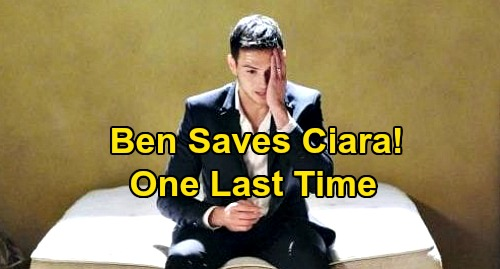 Days of Our Lives Spoilers: Ben's Final Rescue, Saves Ciara One Last Time After Vincent Kidnapping – Bittersweet End to CIN?