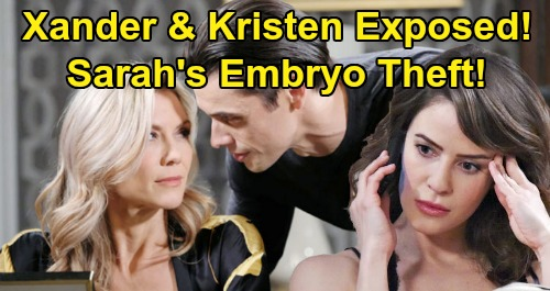 Days of Our Lives Spoilers: Brady Reveals Xander Tried to Steal Sarah's Embryo for Kristen – Enraged Sarah Slaps Twisted Ex